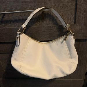 Michael Kors White Shoulder Adjustable Strap Bag